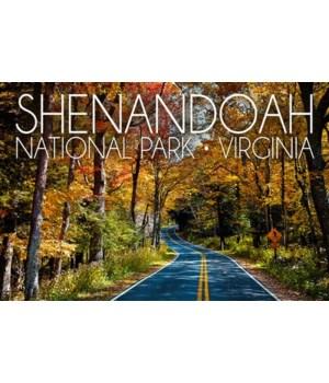 Shenandoah Nat'l Park - Road in Fall