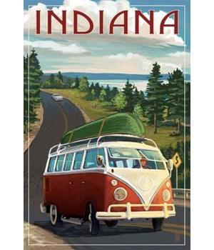 Indiana - Camper Van & Lake