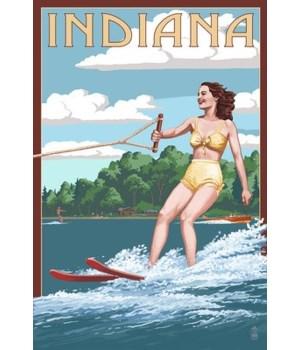 Indiana - Water Skier & Lake