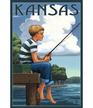 Kansas - Boy Fishing