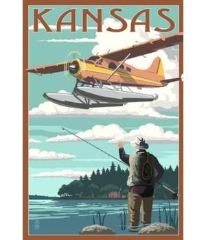 Kansas - Float Plane & Fisherman