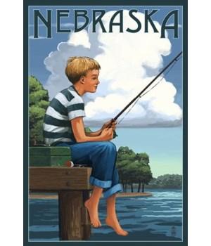 Nebraska - Boy Fishing