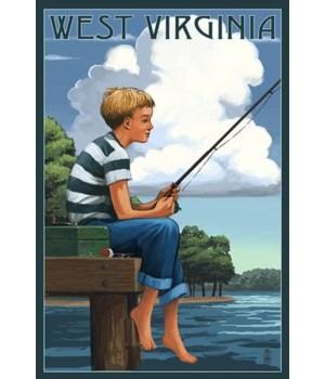 West Virginia - Boy Fishing
