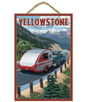 Yellowstone, Montana - Retro Camper - La