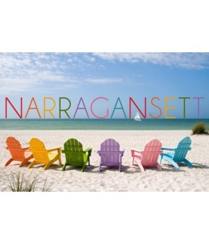 Narragansett, RI - Colorful Beach Chairs