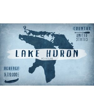 Lake Huron, MI - Lake Essentials -Shape,