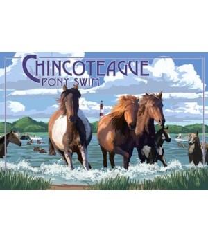 Chincoteague, Virginia - Pony Swim (Hori