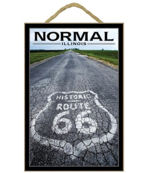 normal, Illinois - Route 66 Marker - Lan