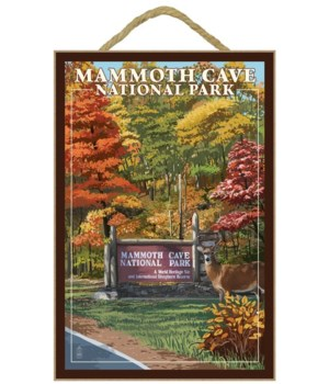 Mammoth Cave - entrance sign to the park