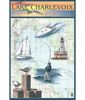 Charlevoix, MI - Nautical Chart