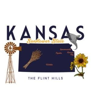 Kansas -  Typography & Icons