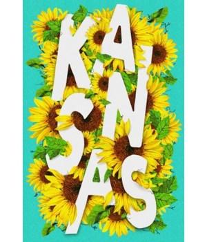Kansas -State Flower-Sunflower Typograph