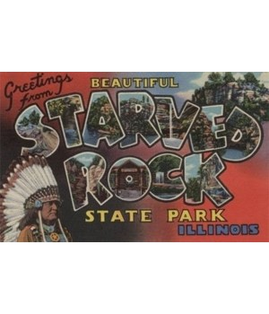 "Starved Rock Illinois 7""x10.5"""""