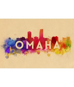 Omaha, Nebraska - Skyline Abstract