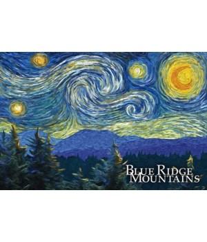 Blue Ridge Mountains -Starry Night