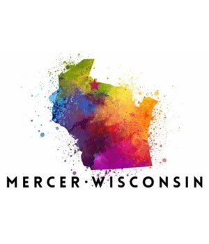 Mercer, WI - State Abstract Watercolor