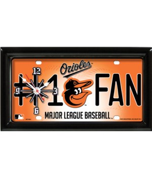 BALTIMORE ORIOLES CLOCK