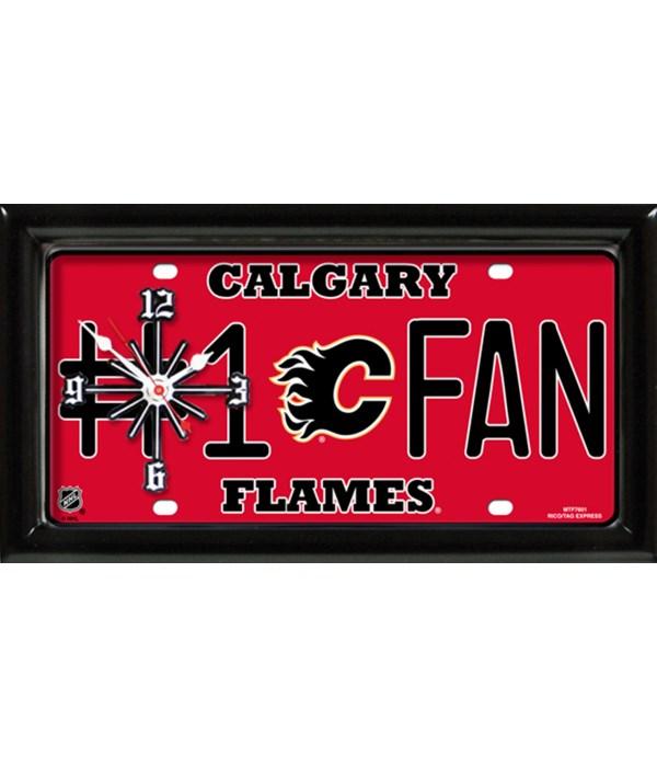 CALGARY FLAMES CLOCK