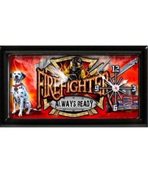 Fire Department - Always Ready Clock