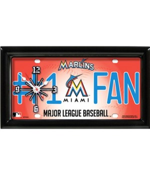 Florida Marlins Clock