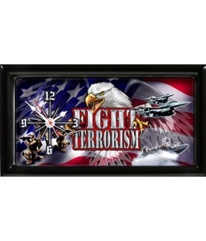 Fight Terrorism Military clock
