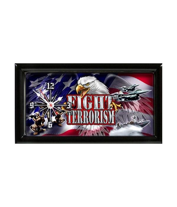 Fight Terrorism Military clock
