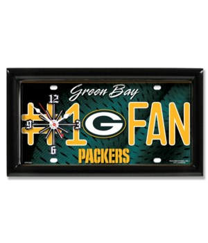 GB Packers Clock