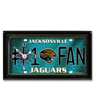 J JAG LICENSE PLATE CLOCK