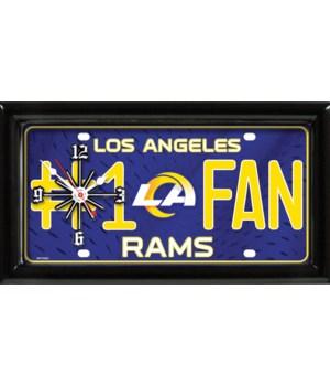LA RAMS  CLOCK