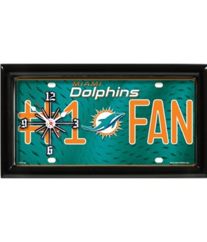 M DOLPHINS  CLOCK