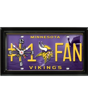 M VIKINGS  CLOCK