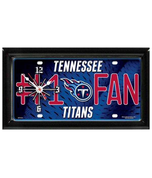 T TITANS  CLOCK