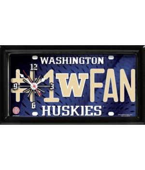 WASHINGTON HUSKIES CLOCK