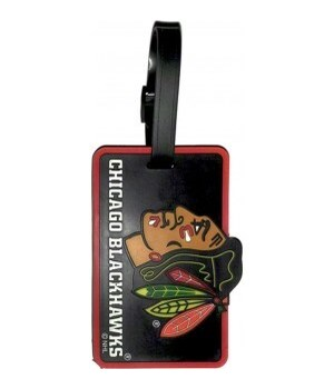 CHIC BLACKHAWKS LUGGAGE TAG