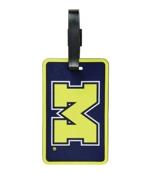 MICH WOLVERINES LUGGAGE TAG