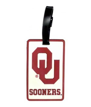 OK SOONERS LUGGAGE TAG