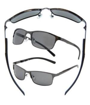 Metal Wire Semi-Rimless Sunglasses