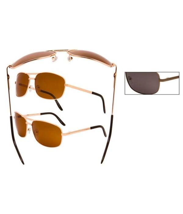Polarized Metal Pilot Sunglasses