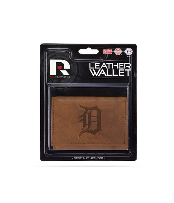 MANMADE LEATHER WALLET - DET TIGERS