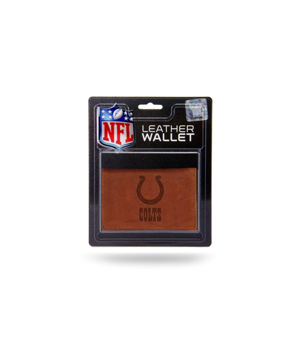 MANMADE LEATHER WALLET - IND COLTS