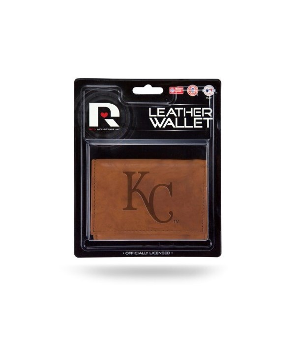 MANMADE LEATHER WALLET - KC ROYALS