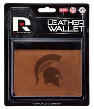 MANMADE LEATHER WALLET - MICH STATE