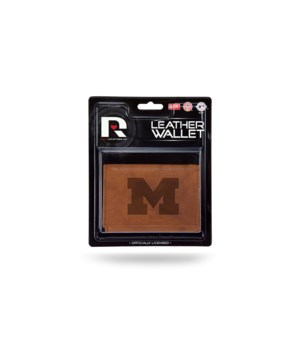 MANMADE LEATHER WALLET - MICH WOLVERINES