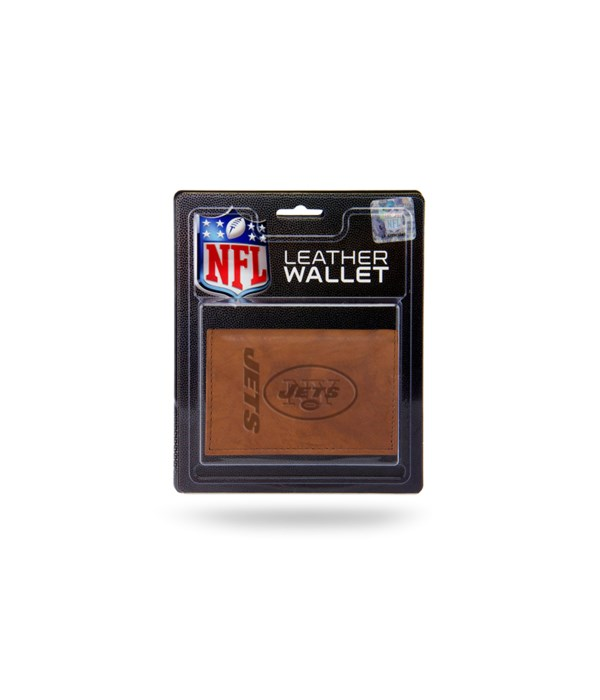 MANMADE LEATHER WALLET - NY JETS
