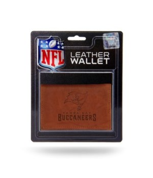 MANMADE LEATHER WALLET - TAMPA BAY BUCS