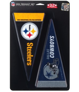 MINI PENNANT SET - NFL