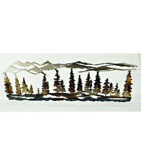 "PINE TREE SCENE (36X18) 36"" Wall Art"