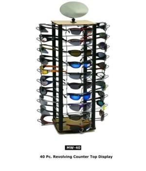 Metal & Wood Sunglass counter display