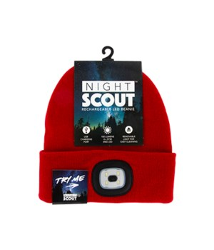 Night Scout Rechargeable LED Beanie 24PC