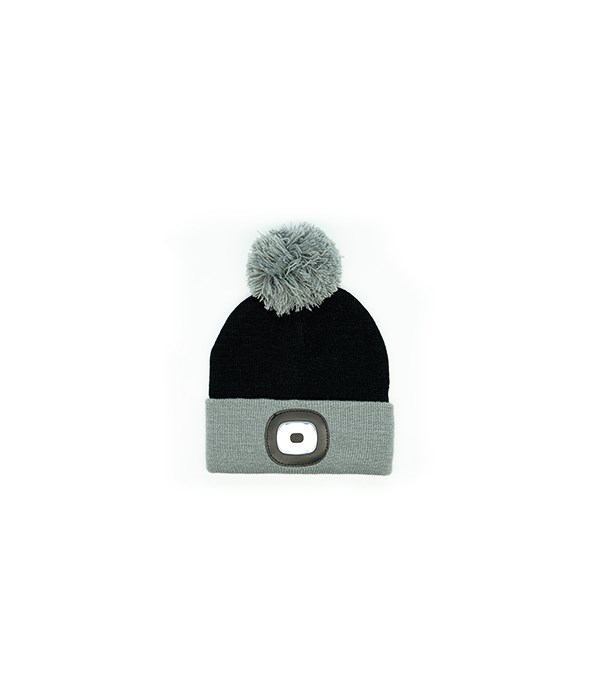 Kids Black Rechargeable LED Beanie 4PC